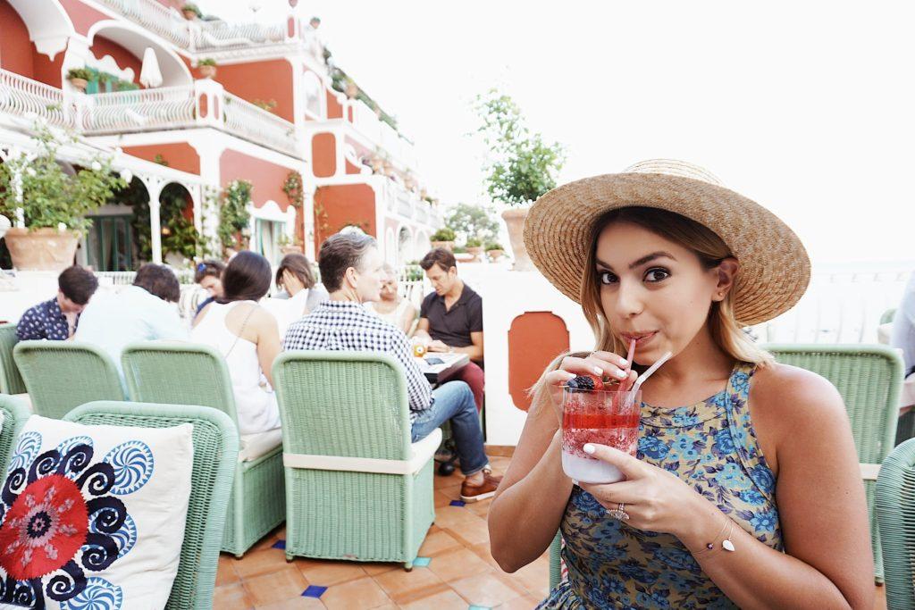 Road Trip through Italy, Honeymoon, Nicole Eachus Amalfi Coast, Positano, Champagne & Oyster Bar, le sirenuse