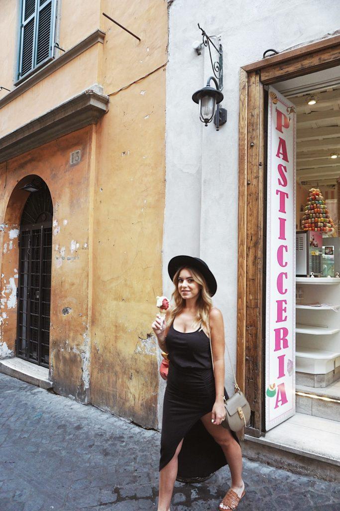 Road Trip through Italy, Honeymoon, Nicole Eachus Rome, Trevi Fountain, gelato