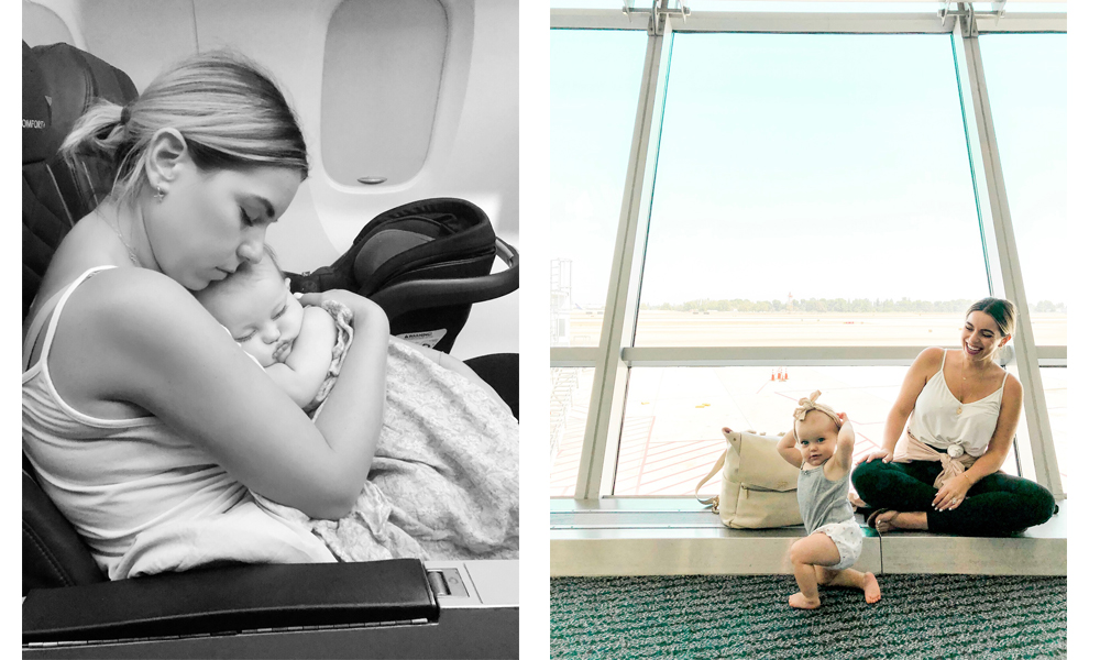 nicole eachus travel blog flying with a baby tips