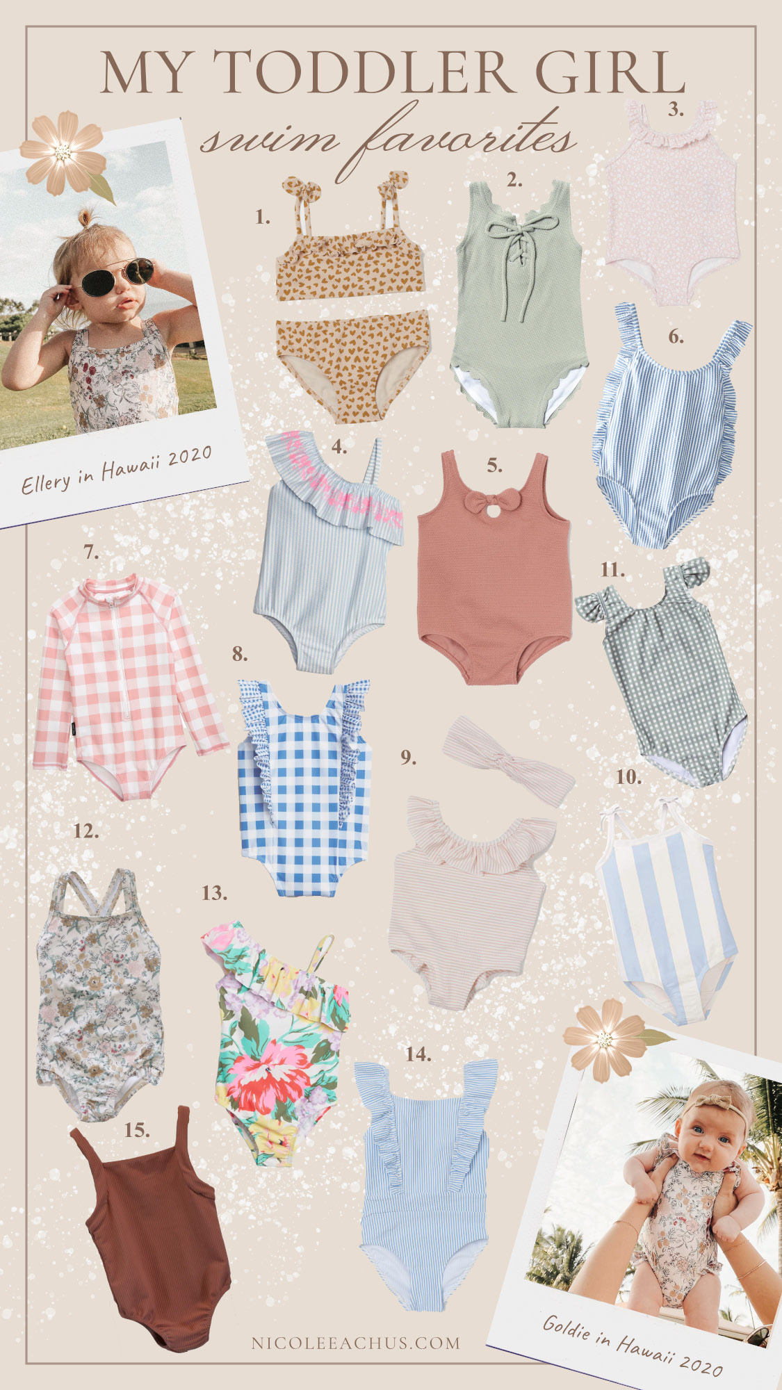 My toddler girl swimsuit favorites for the season