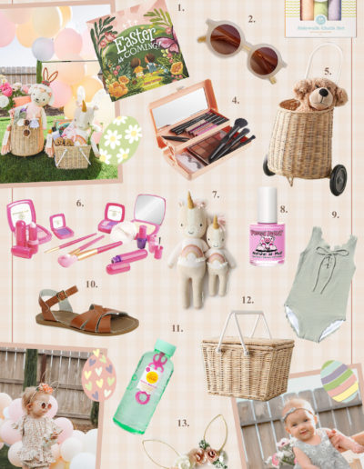 Nicole Eachus Easter Basket Ideas Toddler Girls Collage