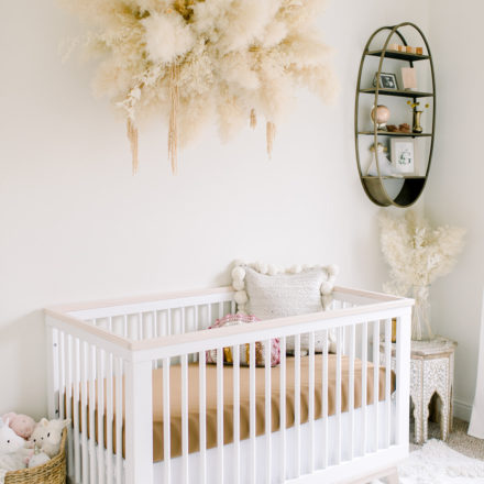 Goldie June boho nursery pampas neutral decor