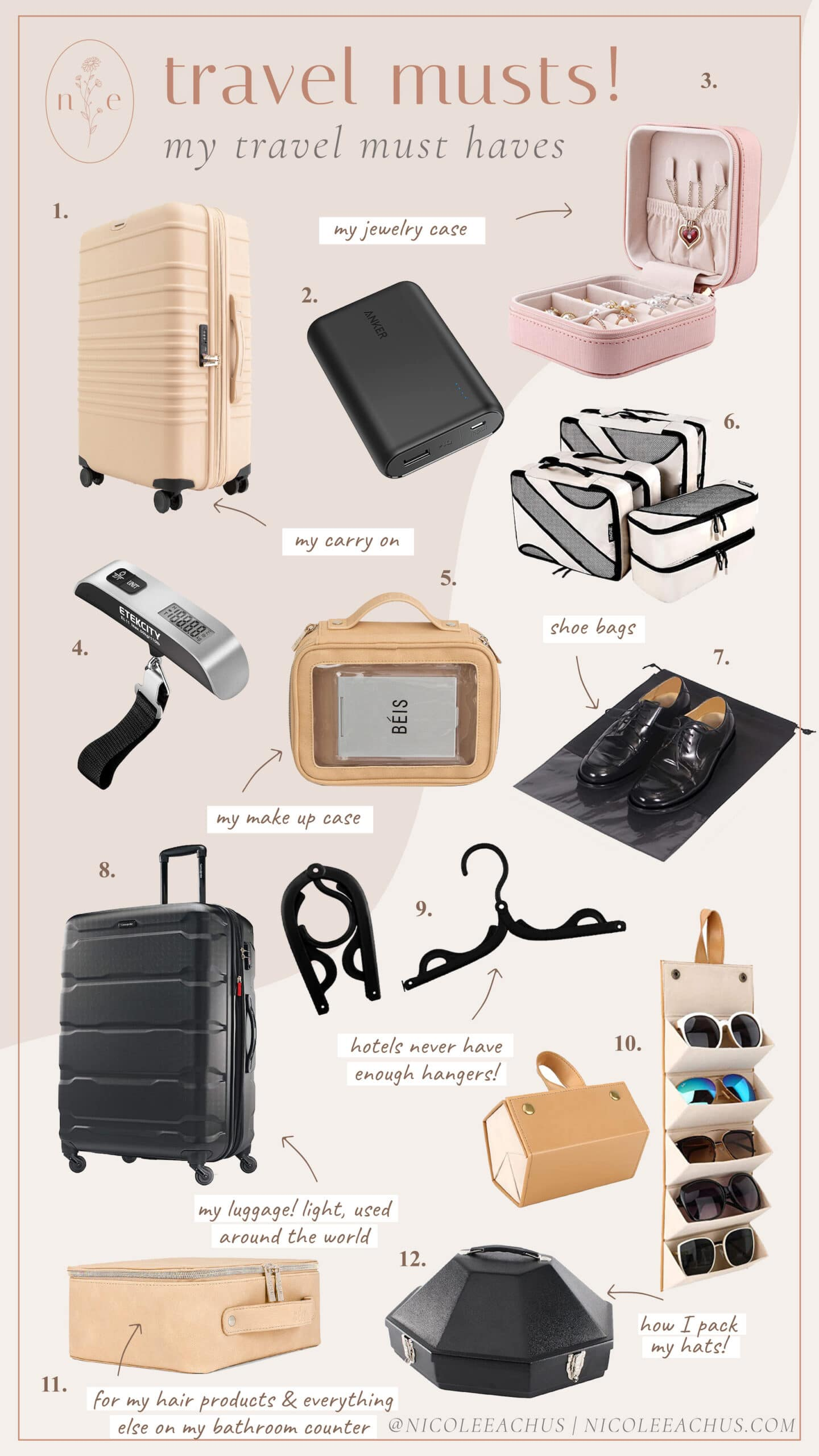 my travel must haves